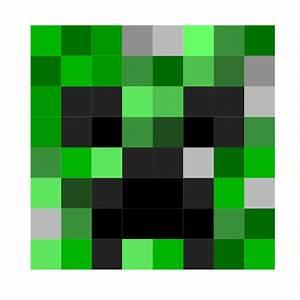 Clipart - Minecraft Creeper Face