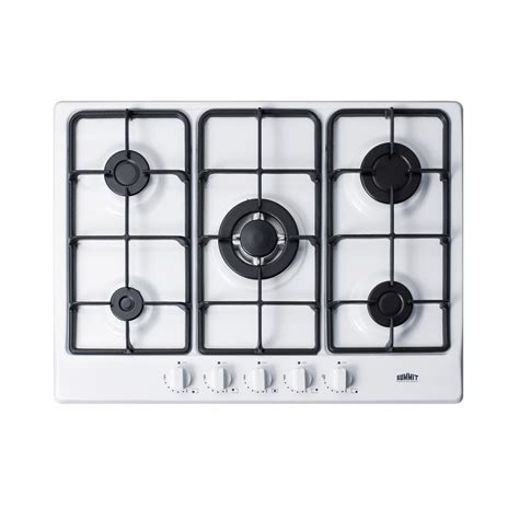 pictures of recessed lighting in kitchen frigidaire 36 in recessed gas cooktop in white with 4 9131