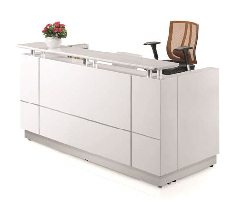 white reception desk 1800w ariel reception desk white kenn