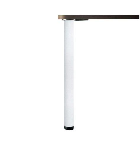 pied de table de cuisine luisina pied de table rond en acier laqué blanc h 870 mm
