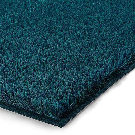 tapis de bain esprit home chill bleu turquoise