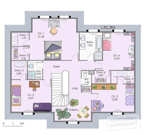 plan de maison à étage 4 chambres maison familiale 6 dé du plan de maison familiale 6