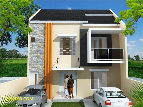 unik rumah minimalis pintu depan samping terbaru denah