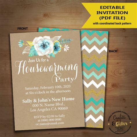 housewarming invitation designs psd ai design