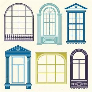 Set of vintage windows — Stock Vector © xenia_ok #72055793