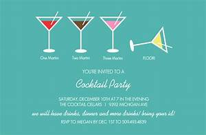 bar party invitations martini cocktail party invitation With cocktail party invite template