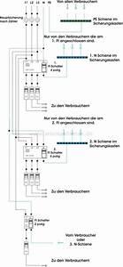 Schaltplan Sicherungskasten Hausanschluss : mehrere fi schalter anschlie en schaltplan elektrik elektro schalter und elektrotechnik ~ Watch28wear.com Haus und Dekorationen