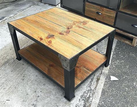 Table Industrielle Pas Cher Table Basse Industrielle Fait Maison