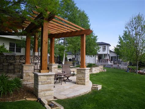 cultured patio w pergola fort collins co rustic