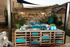 Bar Exterieur De Jardin : le meuble en palette conquiert votre maison et jardin ~ Teatrodelosmanantiales.com Idées de Décoration