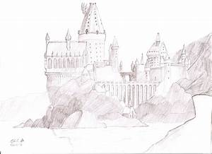 How to draw Hogwarts Castle