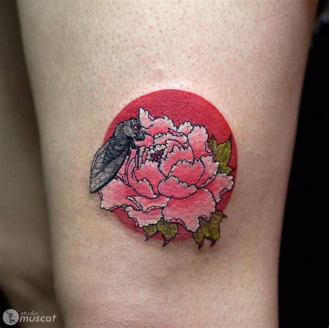 gorgeous peony tattoos    beautiful