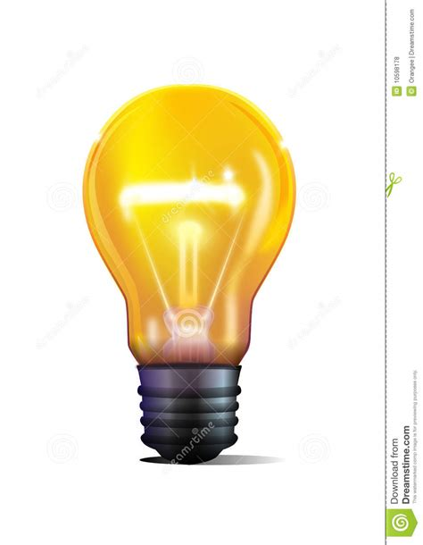 yellow light bulb royalty free stock photos image 10598178