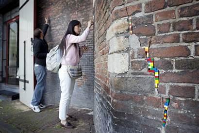 Lego Jan Vormann Artist Wall Repairing Amsterdam