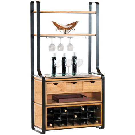 wine storage kitchen pictured here is the deluxe kenley bakers rack in charcoal 1116
