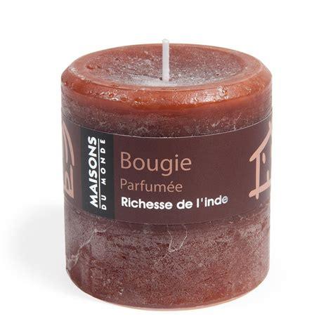 bougie cylindrique chocolat 7x7 maisons du monde