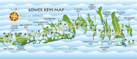 keys map key florida west maps lower island restaurant