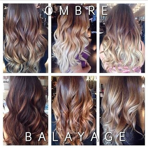 what is balayage color the difference between balayage ombre hair coloring