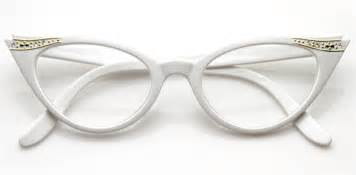 cat eye prescription glasses vintage white rx optional cat eye glasses 8434zu