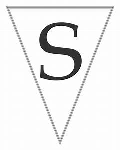 printable banner letters on pinterest banner letters With letter pennants