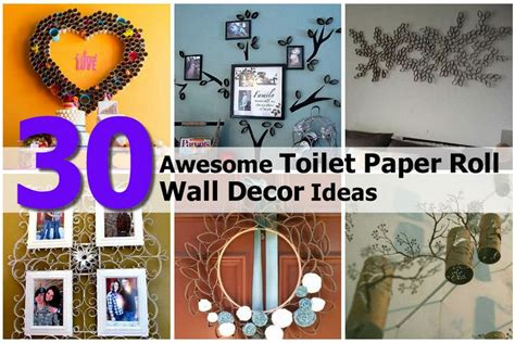 Shop furniture, lighting, storage & more! 30 Awesome Toilet Paper Roll Wall Decor Ideas
