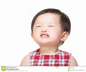 Asian Baby Girl Making Funny Face Stock Photo - Image ...
