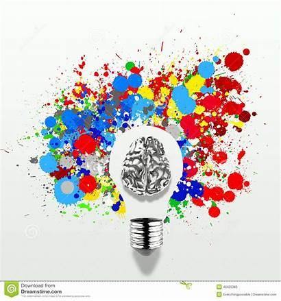 Brain Creativity Human Bulb Background 3d Colors