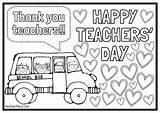Teachers Coloring Colouring Happy Printable Teacher Card Printables Activities Teacherfiera Preschool Michael Clip sketch template