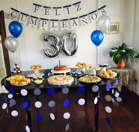 Decoración de cumpleaños 30 años para hombre