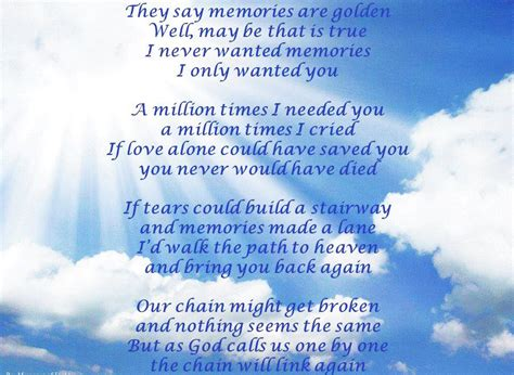 loss of sympathy loss of son quotes quotesgram