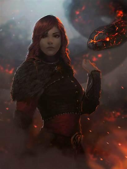Fire Fantasy Woman Wallpapers Desktop