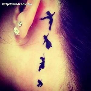 Peter Pan Wendy tattoo behind ear. just might think about ...