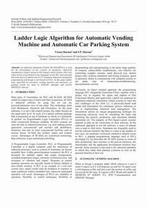 Pdf  Ladder Logic Algorithm For Automatic Vending Machine And Automatic Car Parking System