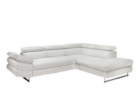 canape solution canapé d 39 angle fixe gauche solution coloris blanc