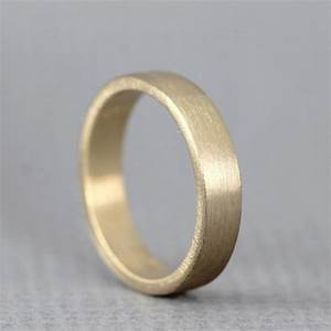 yellow gold men39s wedding band 14k yellow gold matte With mens matte gold wedding ring