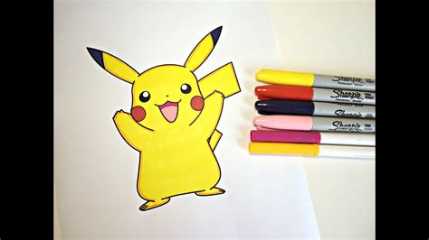 what color is pikachu coloring pikachu color with colorful cat