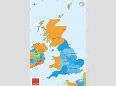 Political Simple Map of United Kingdom