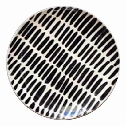 Ceramic Salad Plates Dinner Pattern Dash Handmade