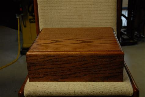 slabs solid american red oak storage coin box