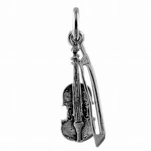 Sterling Silver Violin & Bow Charm