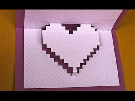 pop  pixelated heart card  valentines