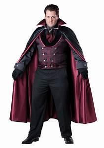 Halloween Kostüm Vampir : men 39 s plus size midnight vampire costume ~ Lizthompson.info Haus und Dekorationen