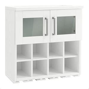 newage home bar  white wall wine rack cabinet