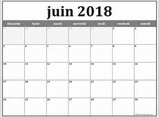 Juin 2018 calendrier imprimer 6 Printable 2018