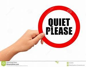 Quiet Please Sign Stock Illustration