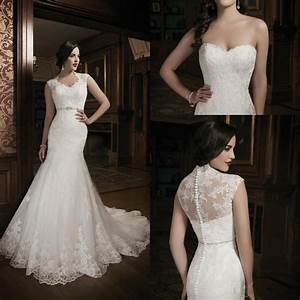 2015 new collection mermaid lace ivory wedding dress With jacket for wedding dress