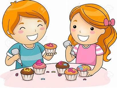 Clipart Decorating Cake Cupcake Cupcakes Chef Children