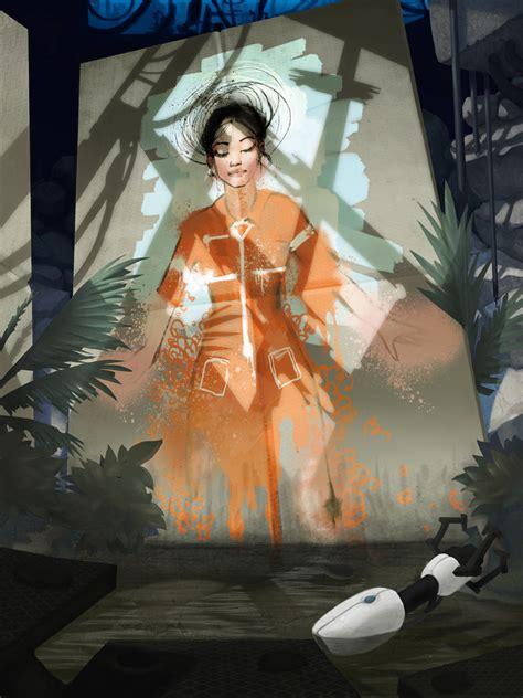 chell portal game zerochan anime image board