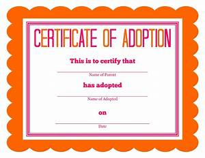 Stuffed animal adoption certificate for Free printable adoption certificate
