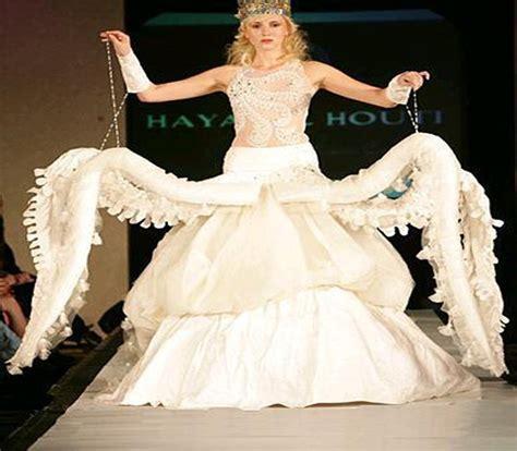 mais estranhos vestidos de casamento
